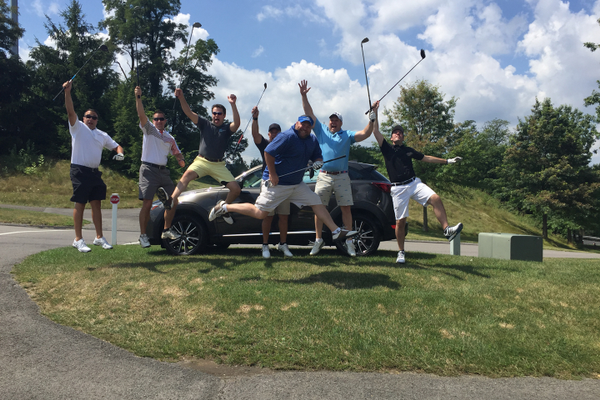 Golf outing. Photo courtesy of Michael Leonardi, Candidly Yours Photography