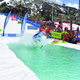 Earn points for costume distance and crowd appreciation in the annual Splashdown pond skimming competition at the base of the Steamboat Ski Area Sunday April 16 Photo by Aryeh Copa