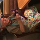 """Sherman """"Reed"""" Lindholm makes balloon animals for customers at the Taylorsville Applebee's. (Tori La Rue/City Journals)"""