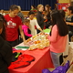 Twin Peaks students and families sample different cultures' foods, including Mexican chicharrons, at the school's annual cultural night. (Julie Slama/City Journals)