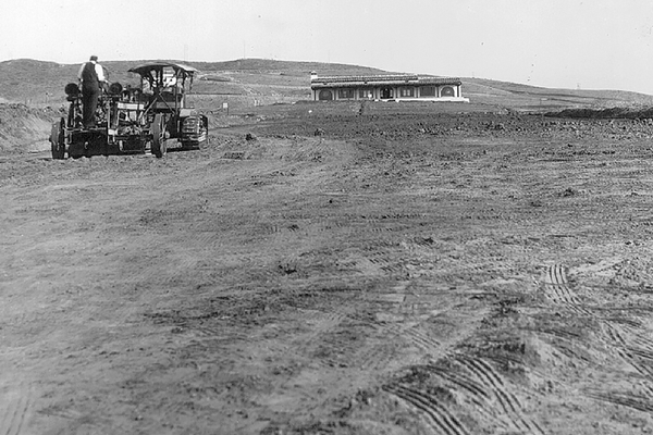 Grading the course, 1930.