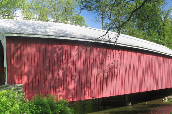 Hassenplug Covered Bridge, Mifflinburg, the oldest U.S. covered bridge still standing (c. 1825).