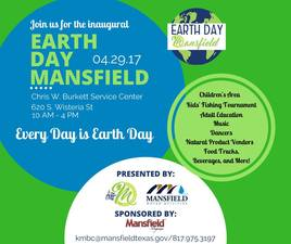 Earth Day Mansfield 2017 - start Apr 29 2017 1000AM