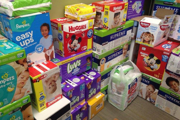 With generous donations from businesses and residents, the CHBA Cottonwood Heights Business Association was able to collect more than 6,000 diapers for the Road Home in Midvale. (Peri Kinder/Cottonwood Heights)