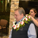 Lautaha places lei onChief Russo's shoulders during the introduction of her husband to the department.(Dan Metcalf/Cottonwood Heights)