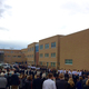 Procession for Officer Jon Richey at his funeral services. K-9s howled as the casket of Richey, followed by his family, passed. (Aspen Perry/City Journals)