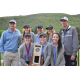 Coaches and golfers of the Corner Canyon girls golf team pose for photos after winning the 4A state championship a year ago. (Debbie Connell/Corner Canyon girls golf)