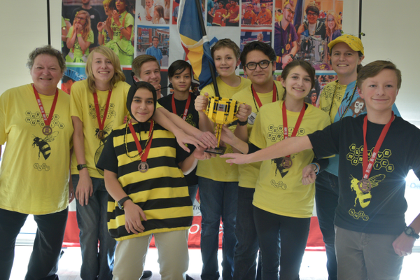 Beehive Robotics of Beehive Science & Technology Academy won back-to-back state First Lego League robotics titles and qualified to compete at the world competition in Houston. (Annie Drennan/Beehive Academy)