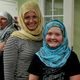 """Jenelle and Monae Kingler show off their new look after enjoying the presentation """"Meet the Muslims."""" (Keyra Kristoffersen/City Journals)"""