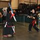 Christopher James Holloway and Balthazar Cruz practice their swordplay skills against each other using foam bats. (Keyra Kristoffersen/City Journals)