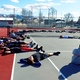 The boys tennis team at Alta warm up during a spring practice. (Billy Swartzfager/City Journals)