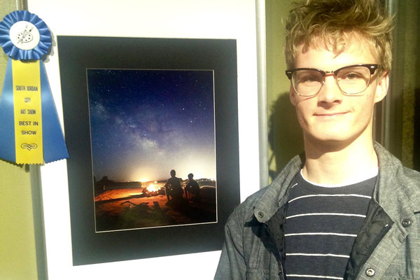 "Parker Simpson won the best of show award for children categories for ""Campfire."" (Mylinda LeGrande/City Journals)"