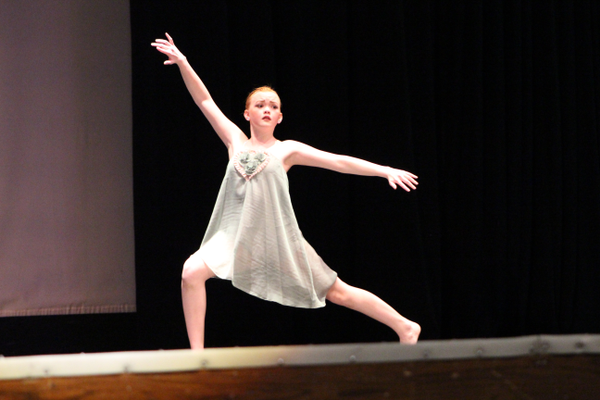 a solo dancer performs at the 2017 Will Dance For Food Competition, which benefits the local food bank. (Tori La Rue/City Journals)