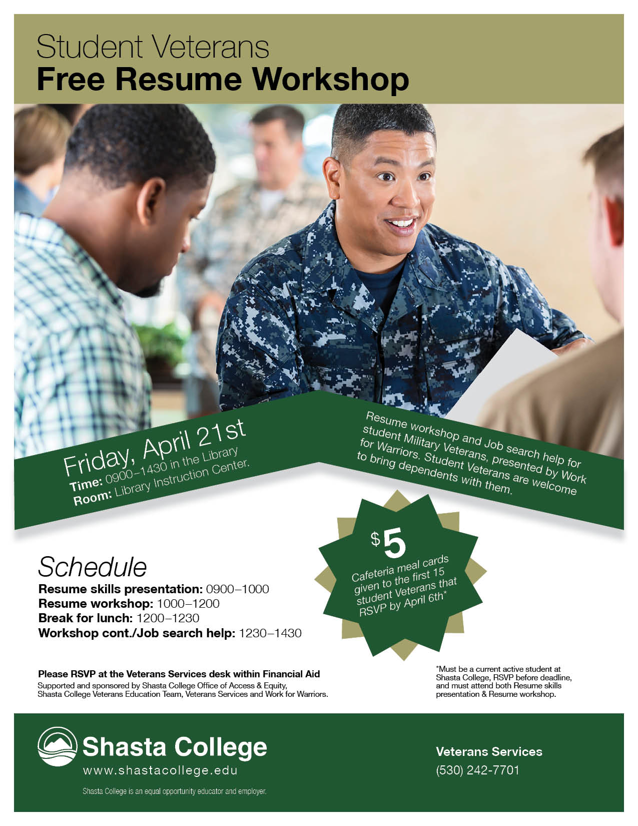 Sc17 2108 20student 20veterans 20resume 20workshop 20flyer