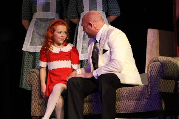 "Elizabeth Birkner and Todd Young sing ""Together at Last"" from ""Annie"" during Riverton Art's Council's spring musical production. (Tori La Rue/City Journals)"