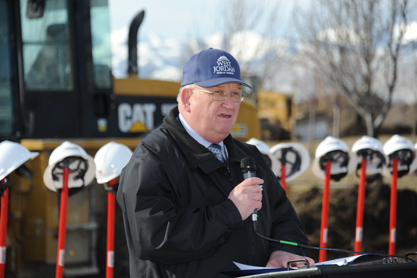 Public Work Director Wendell Rigby speaks at the groundbreaking ceremony for West Jordan's new public works facility on Feb. 16. (West Jordan City)