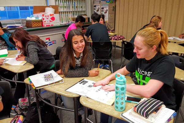 Hillcrest High School's National Honor Society members tutor their peers as part of their 50 hours of service they give to their community. (Michelle Hawkins/Hillcrest High School)