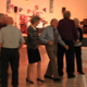 Karl Tinggaard (in blue) leaves the dance floor with a partner at the Murray Heritage Senior Center weekly dance.