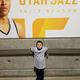 Oliver was one of 30 children who stood with the Jazz's athletes and coaches as the national anthem was sung. (Wesley Brown/parent).