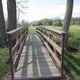 Two new foot bridges span a small creek that runs through Chadds Ford