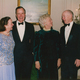 Henry and Elsie Hillman with former President and Barbara Bush
