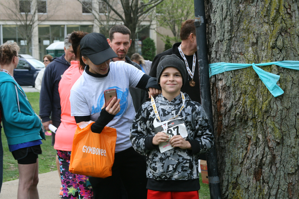 Participant of the Forever Family 5K Run and Fun Walk