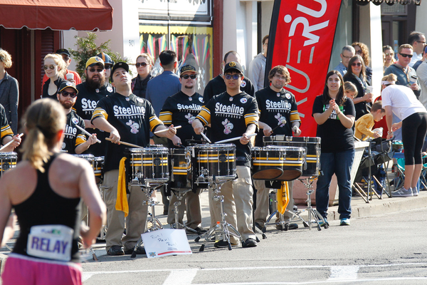 The Pittsburgh Steeline members performing