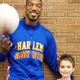 "Harlem Globetrotter ""Buckets"" and Willow Canyon third-grader Qwade Rondeau team up to promote friendship at his school. (Tausha Rondeau/parent)"