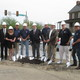 Rep Lawrence Sen Dinniman and Penn Township officials take part in a ceremonial groundbreaking for the project