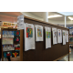 T-shirts depicting winner of previous years elementary school art shows. (Keyra Kristoffersen/City Journals)