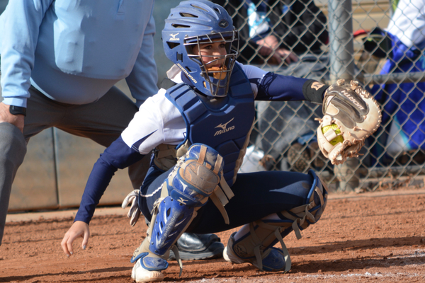 Senior Bela Sedillo has played varsity catcher all four years on the Juan Diego softball team. Head coach Paul Archuleta said she's one of the smartest players he's ever coached. (DeAnn Madsen/Juan Diego softball)