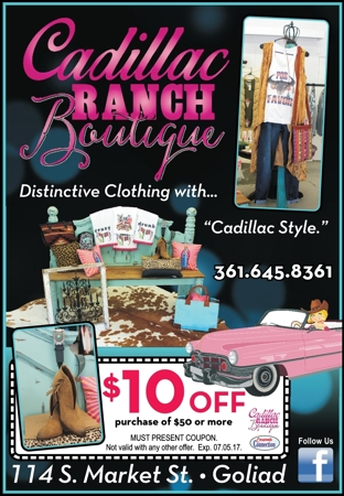 Cadillac 20ranch 20boutique goliad 20  20cc 20  20may june 202017