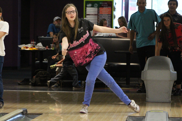 Hillcrest High freshman Emily Pulzer practices at Fat Cats in April. Pulzer qualified for nationals by winning the Pepsi Championship in American Fork. (Travis Barton/City Journals)