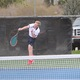 Freshman Connor Robb-Wilcox, ranked 70th nationally, serves against Olympus. (Travis Barton/City Journals)