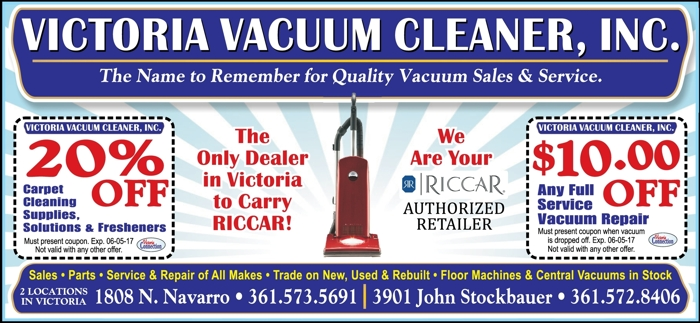 Victoria 20vacuum 20cleaner  20inc. 20  20vc 20  20april may 202017