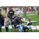 Face painting was a popular activity before the Easter Egg Hunt began on April 8 at Fairmont Park. (Allie Nannini/City Journals)
