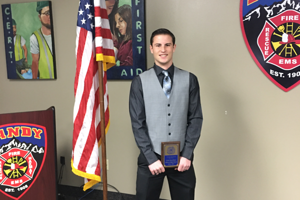 Hillcrest High School student Cade Kartchner recently was honored as Youth of the Month by the Sandy Exchange Club.  (Sandy Exchange Club)
