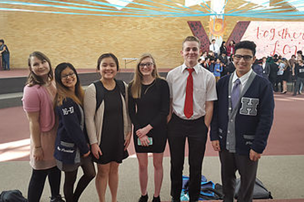Six members of the Hunter High School debate team qualified for the state tournament. (Hunter debate team)