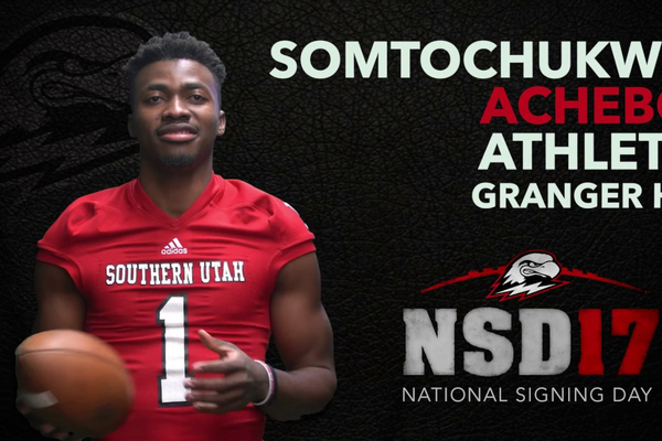 "SUU will have Mount Vernon Academy senior Somtochukwu ""Sommy"" Achebo on campus this fall.  (Southern Utah University)"
