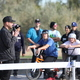 Josh Scheuerman speaks to the crowd prior to the ribbon cutting at the opening of the skate park. For 15 years Scheuerman advocated for a skate park to city government. (Kevin Conde/West Valley City)