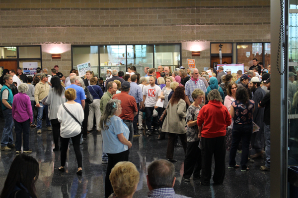 Citizens from West Valley turned out to various public meetings to voice opposition to the proposed homeless sites in the city. (Travis Barton/City Journals)