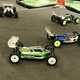 Remote- control buggies line up for their heat race at the 29th annual April Fools Classic. (Greg James/City Journals)