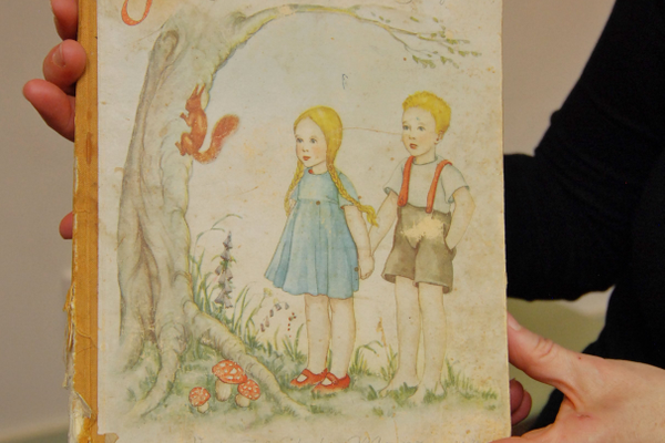 A copy of the Grimm's Fairy Tales in German from the 1930s. (Keyra Kristoffersen/City Journals)