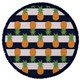 The Nautical Pineapple Towel, $89.95 at Round Towel Co., roundtowelco.com