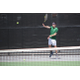 No. 2 singles player volleys during the region 6 tournament at Murray High. (Travis Barton/City Journals)