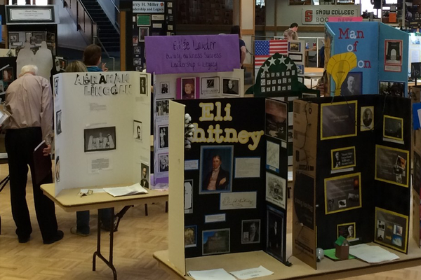 "Students researched and presented people who ""Took A Stand in History"" for the Regional History Fair. (Utah History Day)"