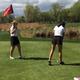 Kassidy Wallin tends the flag for Jenique Jacobs (Brett Boberg/Bingham Head Coach)