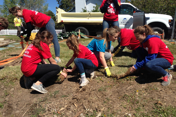 Vista West Park was one of many city parks that received facelifts on I Love West Jordan Day with new trees, mulch, sod and cleaned-out dry washes. (Natalie Conforto/City Journals)