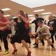 "Herriman High School ballroom dance team members rehearse their dance to ""Separate Ways (Worlds Apart)"" by Journey before the dance department's final showcase. (Tori La Rue/City Journals)"