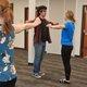 Shark Skye Garcia dances with Jet Hailey Bennett. (Keyra Kristoffersen/City Journals)